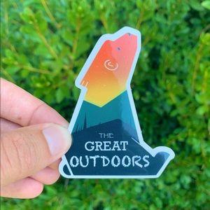 Bear Sunset sticker